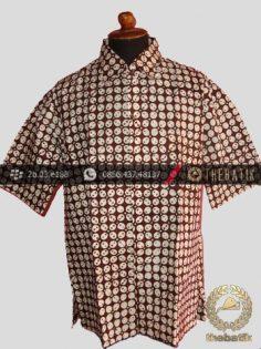 Kemeja Batik Jogja Motif Kawung Sen