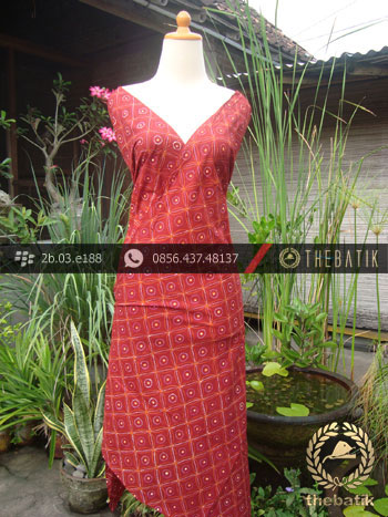 Kain Batik Tulis Jogja Motif Kawung Merah