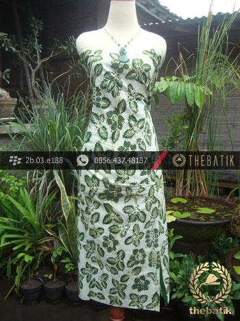 Kain Batik Tulis Jogja Motif Bantulan Hijau