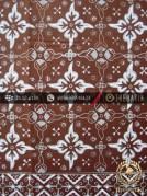 Kain Batik Cap Tulis Jogja Motif Kembang Sikatan Coklat