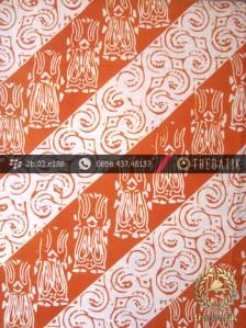 Kain Batik Cap Jogja Motif Lereng Jingga
