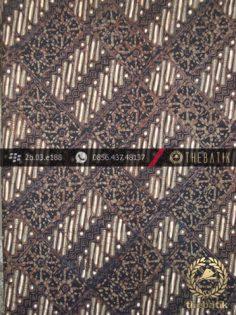 Batik Cap Tulis Jogja Motif Parang Kotak Cakar Hijau