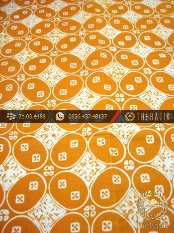 Kain Batik Cap Jogja Motif Kawung Beton Kuning