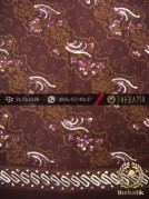 Batik Cap Tulis Jogja Motif Lereng Maroon