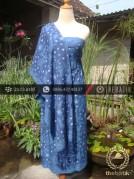 Sarung Selendang Batik Sutera Tulis Biru
