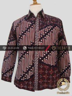 Kemeja Batik Cap Tulis Jogja Motif Pulau-1
