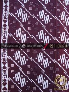 Kain Batik Cap Jogja Motif Ceplok Marun