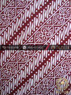 Kain Batik Cap Jogja Motif Parang Daun Sirih Marun