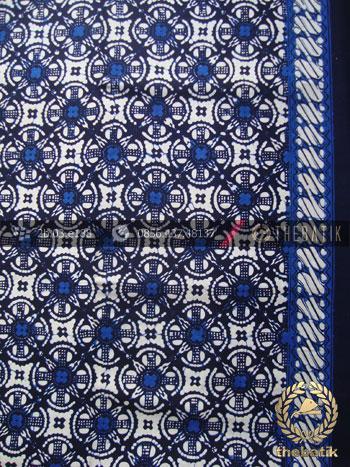 Kain Batik Cap Jogja Motif Cakar Biru