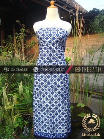 Kain Batik Cap Tulis Jogja Motif Tunjung Biru