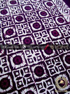 Kain Batik Cap Jogja Motif Ceplok Matahari Ungu