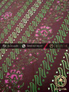 Kain Batik Cap Tulis Jogja Motif Parang Seling Kembang Hijau