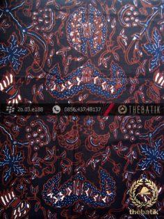 Kain Batik Tulis Jogja Motif Wahyu Tumurun Latar Hitam