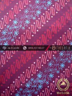 Kain Batik Cap Tulis Jogja Motif Parang Seling Kembang Ungu-3