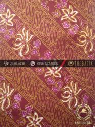 Batik Cap Tulis Jogja Motif Parang Seling Kembang Marun