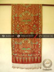 Selendang Batik Tulis Sutera Motif Bouquet