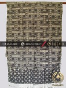 Selendang Batik Cap Sutera Motif Parang Anyaman Abu-abu
