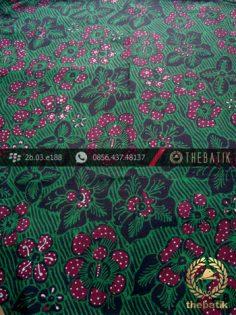 Kain Batik Tulis Jogja Motif Bantulan Galaran Hijau Jambon