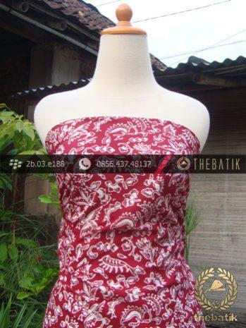Kain Batik Cap Jogja Motif Burung Kecil Merah