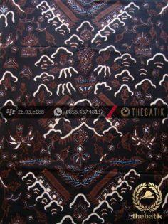 Kain Batik Tulis Jogja Motif Cuwiri Latar Hitam