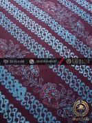 Kain Batik Cap Tulis Jogja Motif Parang Seling Kembang Biru