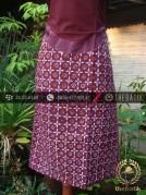 Kain Batik Tulis Jogja Motif Kontemporer Marun-Ungu
