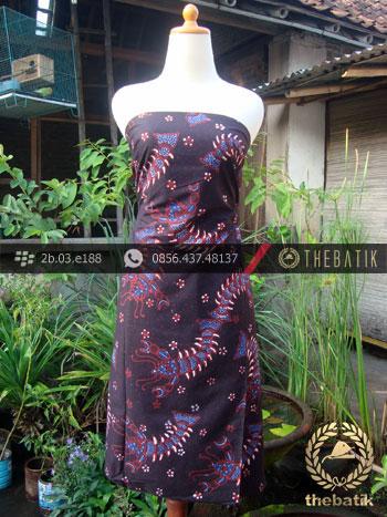 Kain Batik Tulis Jogja Motif Urang-Urangan Latar Hitam