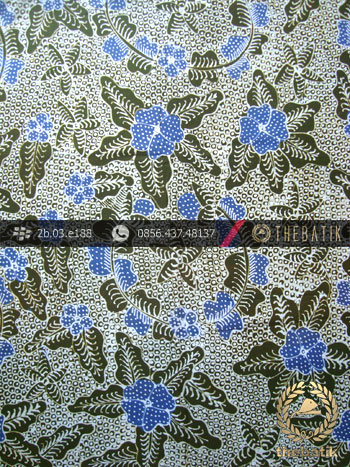 Kain Batik Tulis Jogja Motif Bantulan Gringsing Hijau Biru