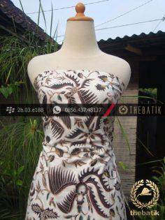 Kain Batik Coletan Solo Motif Lung Buketan Putih