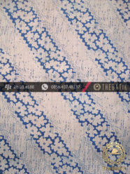 Kain Batik Sutera Jogja Motif Lereng Kontemporer Biru Lawasan