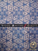 Kain Batik Sutera Jogja Motif Ceplok Kontemporer Biru