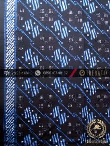Kain Batik Cap Tulis Yogya Motif Ceplok Abimanyu Biru