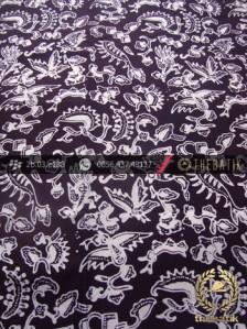 Kain Batik Cap Yogya Motif Burung Kecil Hitam Kelengan
