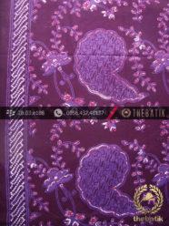 Kain Batik Cap Tulis Jogja Motif Keong Ungu