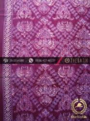 Kain Batik Cap Tulis Jogja Motif Lung Leduri Ungu