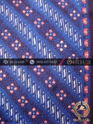 Kain Batik Cap Tulis Jogja Motif Parang Biru Nitik Merah