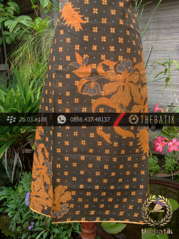 Kain Batik Cap Solo Motif Anggrek Beton