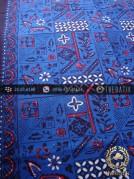 Kain Batik Cap Tulis Yogya Motif Tambal Buketan Biru