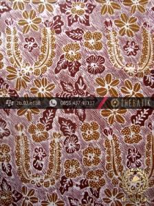 Kain Batik Tulis Yogyakarta Motif Bantulan Kuning Marun