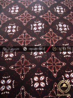Kain Batik Cap Tulis Jogja Motif Jayakirana Sogan Hitam