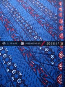 Kain Batik Cap Tulis Jogja Motif Lereng Biru