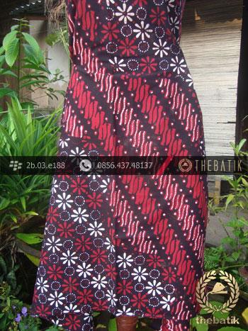 Kain Batik Cap Tulis Yogya Motif Pulau Merah-2