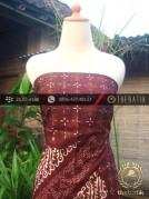 Kain Batik Cap Tulis Jogja Motif Pulau Kombinasi Marun