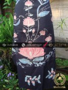Batik Tulis Sutera Coletan Jogja Buketan Latar Biru-1