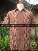 Kemeja Batik Seragam Motif Parang Kontemporer Kuning-2