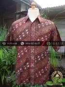 Kemeja Batik Seragam Motif Parang Seling Merah-4