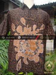 Kemeja Batik Seragam Motif Semar Kuning Kombinasi