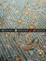 Kain Batik Tulis Yogyakarta Motif Bantulan Besek Hijau