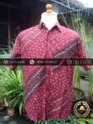 Kemeja Batik Seragam Motif Parang Seling Merah-3