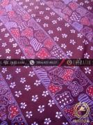 Kain Batik Tulis Yogyakarta Motif Lereng Ungu